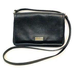 Kate Spade Black Pebbled Leather Crossbody Handbag